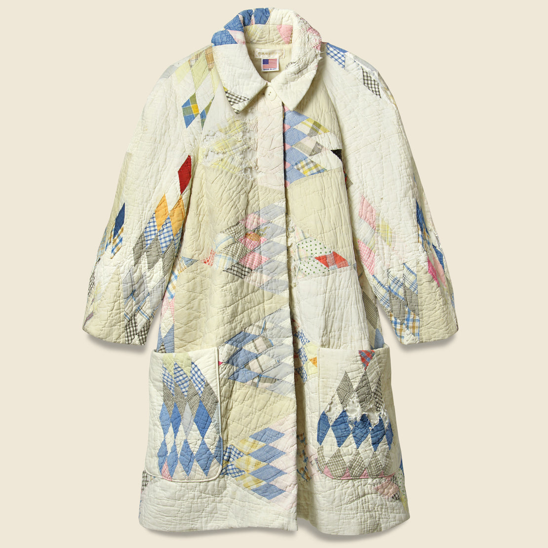 Carleen Quilt Coat - White Diamond
