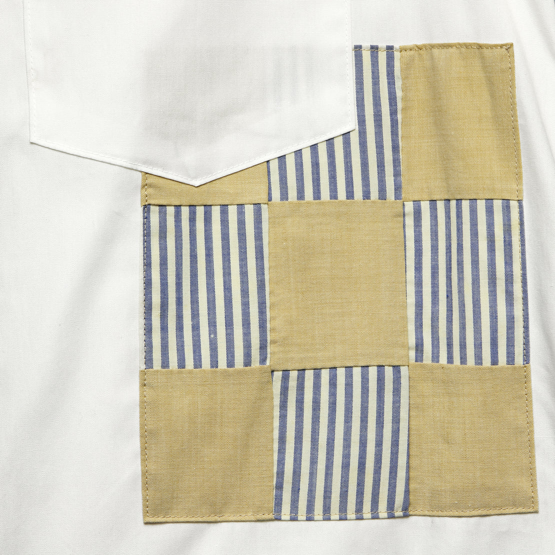 Patchwork Shirt - White