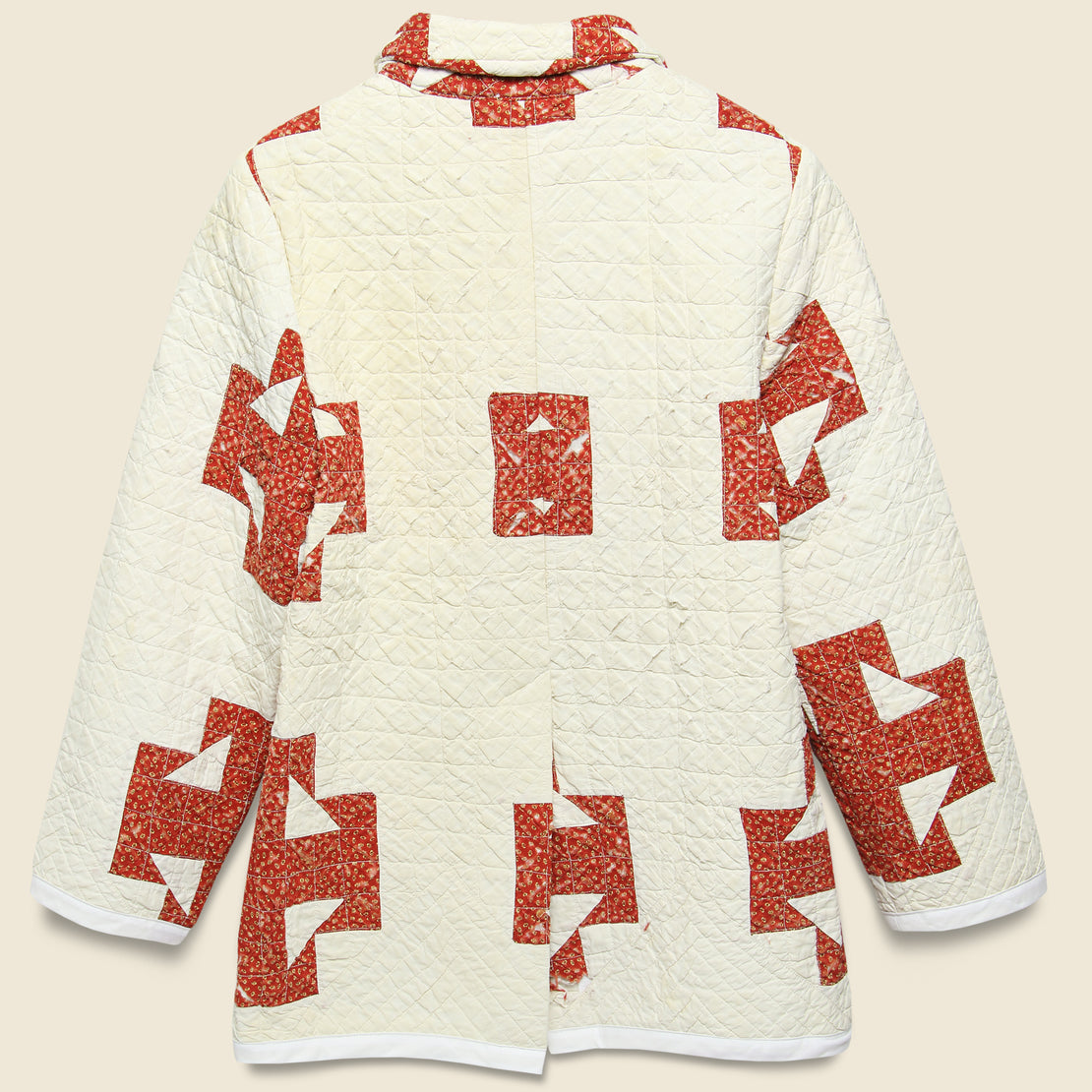 Moving Day Quilt Jacket - Red/Natural Stars