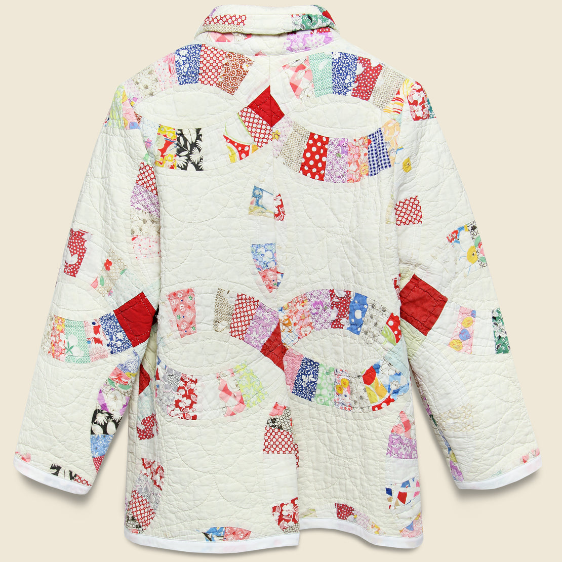 Moving Day Quilt Jacket - Red/Natural/Multi