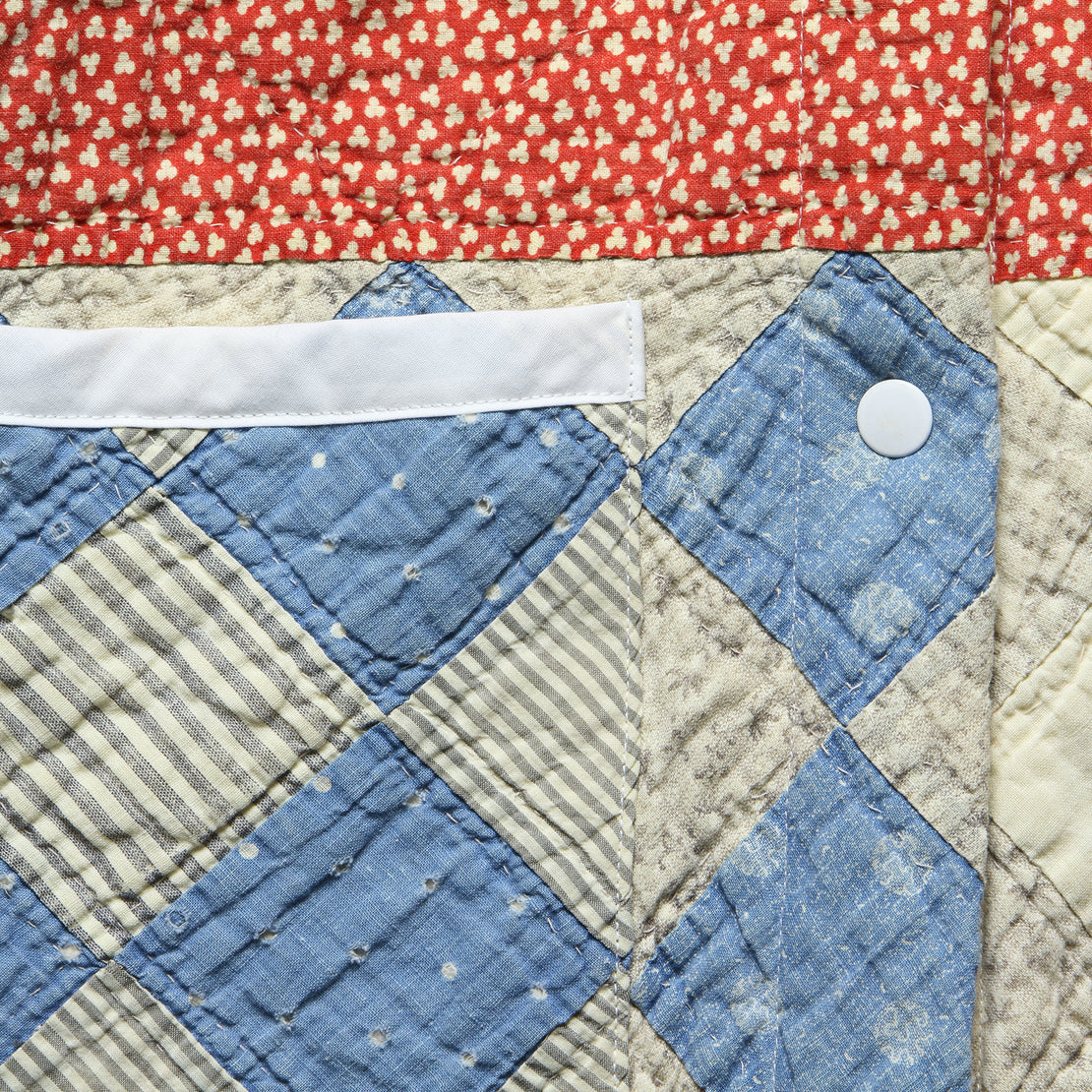 Moving Day Quilt Jacket - Red/Blue/Natural