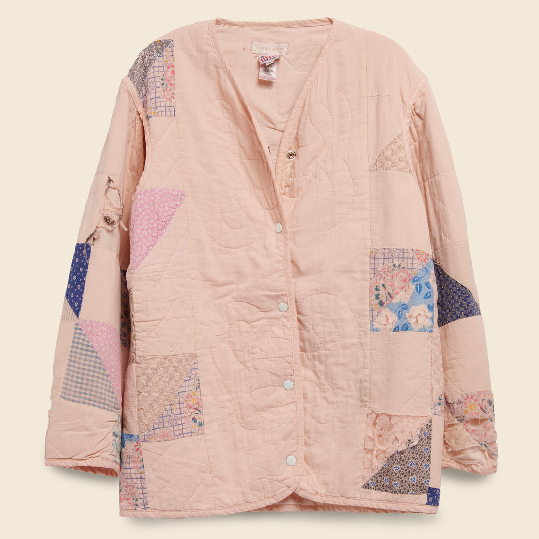 Carleen Quilt Liner Jacket - Pink Overdye, Triangle Sides