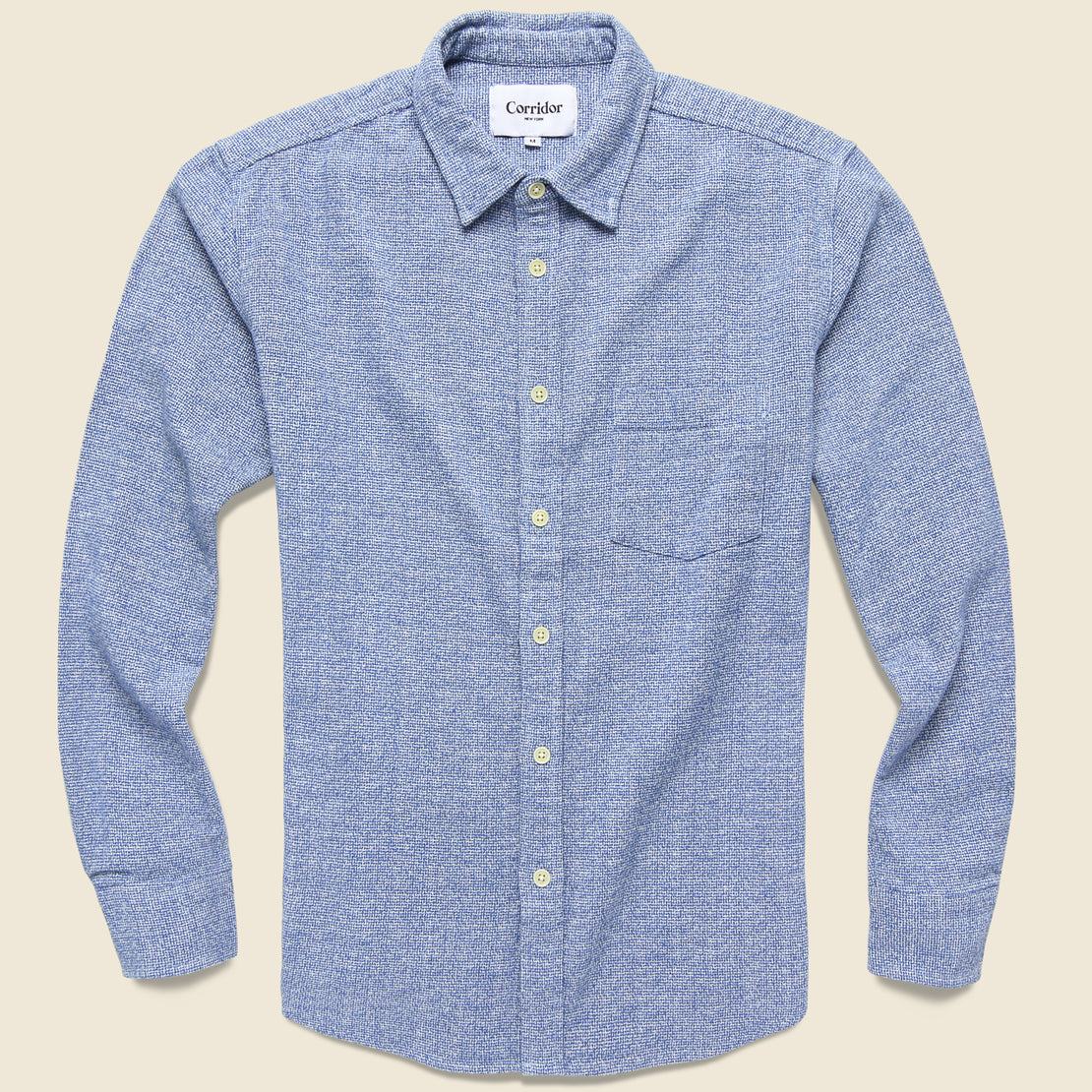Corridor Speckled Flannel - Blue