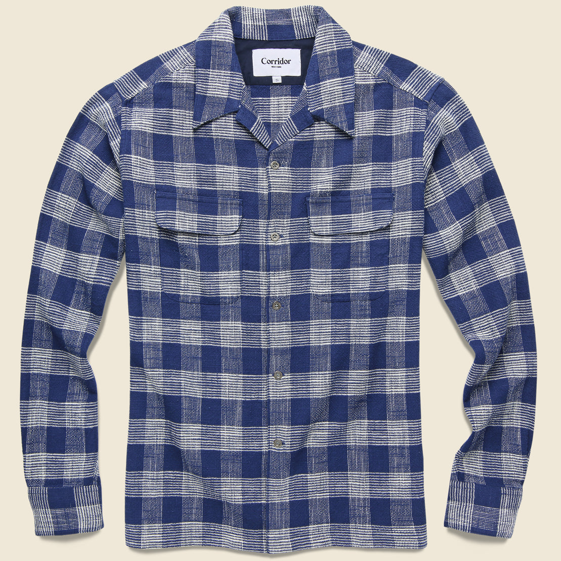 Corridor Triple Check Workshirt - Indigo
