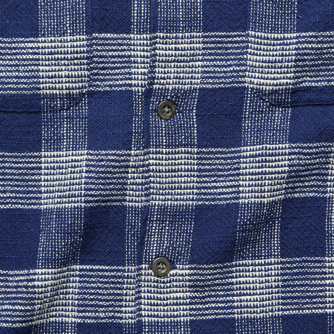 Triple Check Workshirt - Indigo