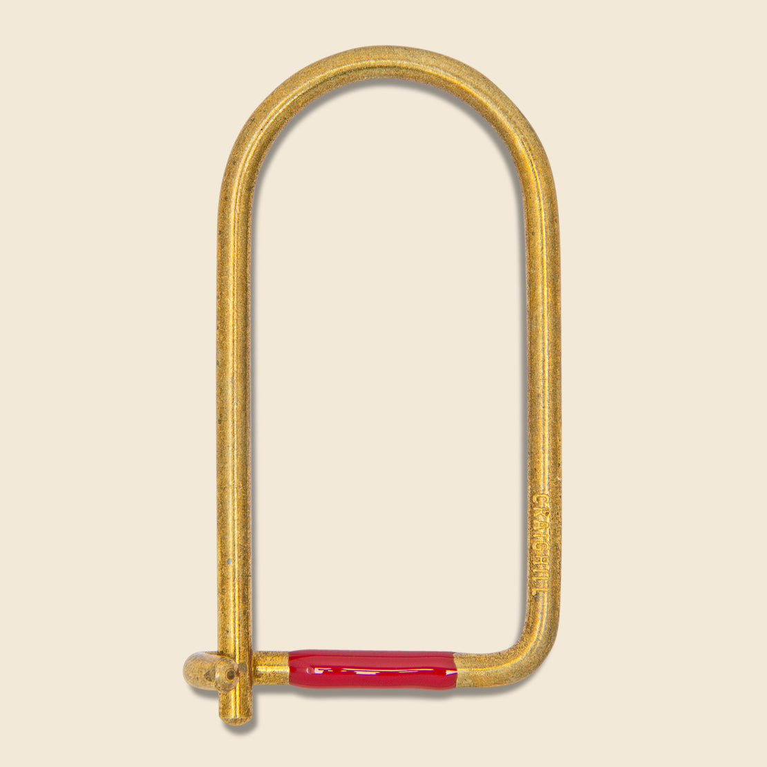 Craighill Wilson Enameled Key Ring - Brass/Red