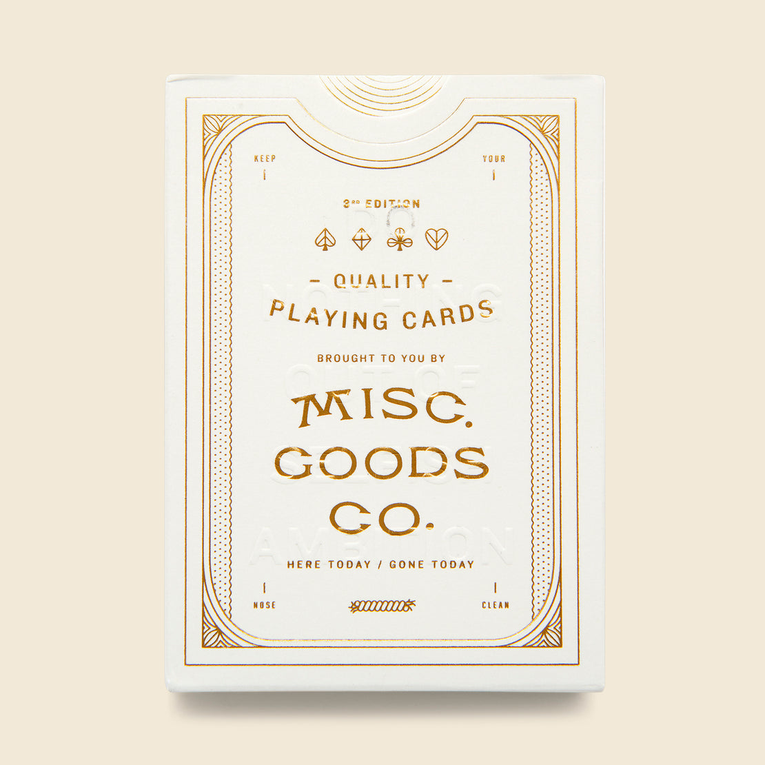 Paper Goods Playing Cards - White