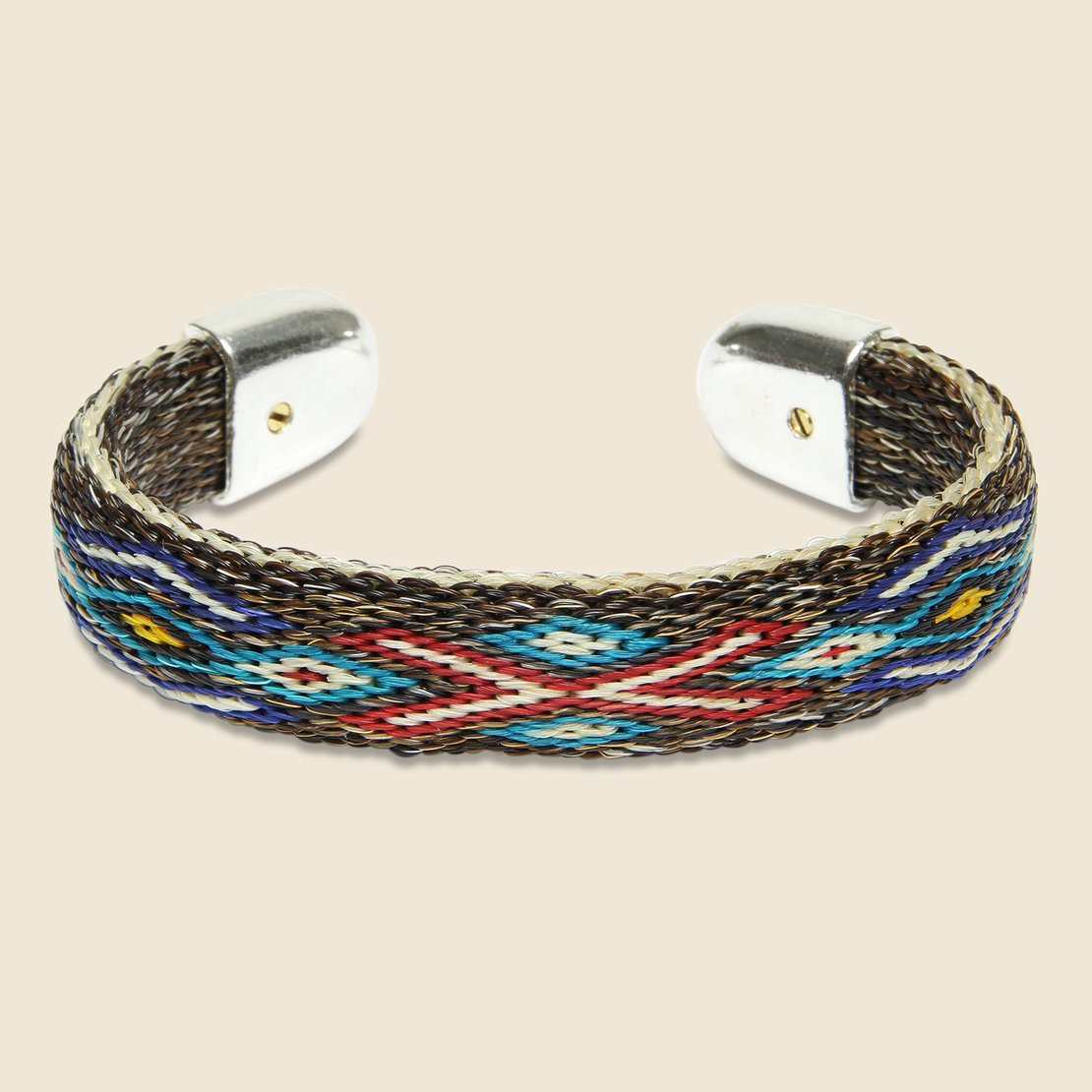 Chamula Bendable Horsehair Bracelet - Brown/Multi