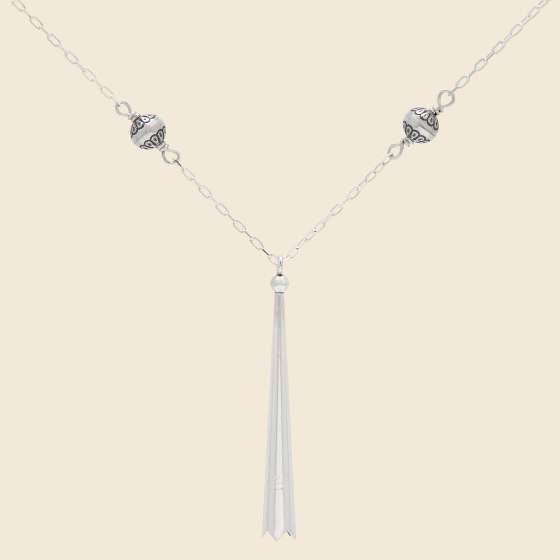 Bolo Tip Necklace - Sterling Silver