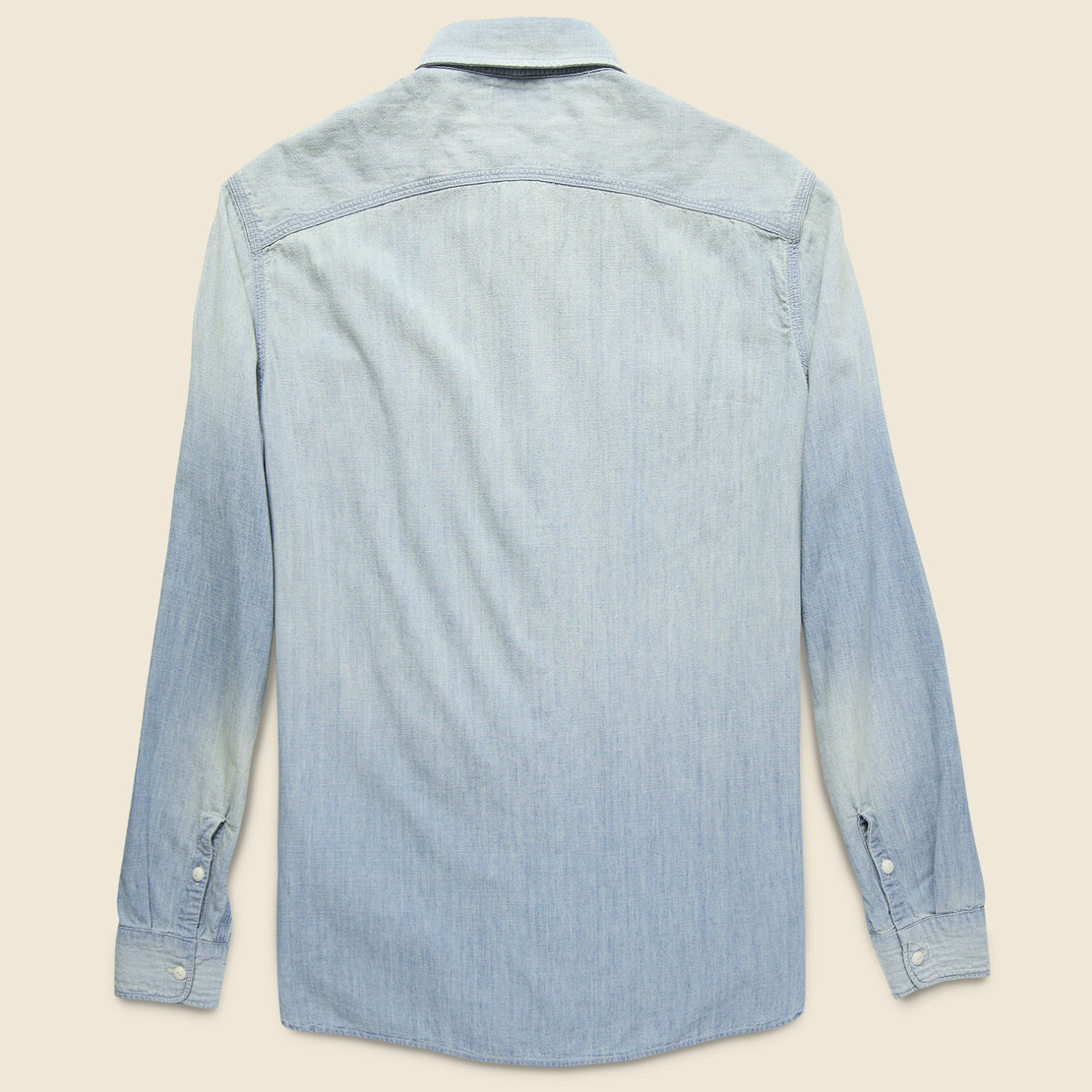 Farrell Chambray Workshirt - Medium Wash