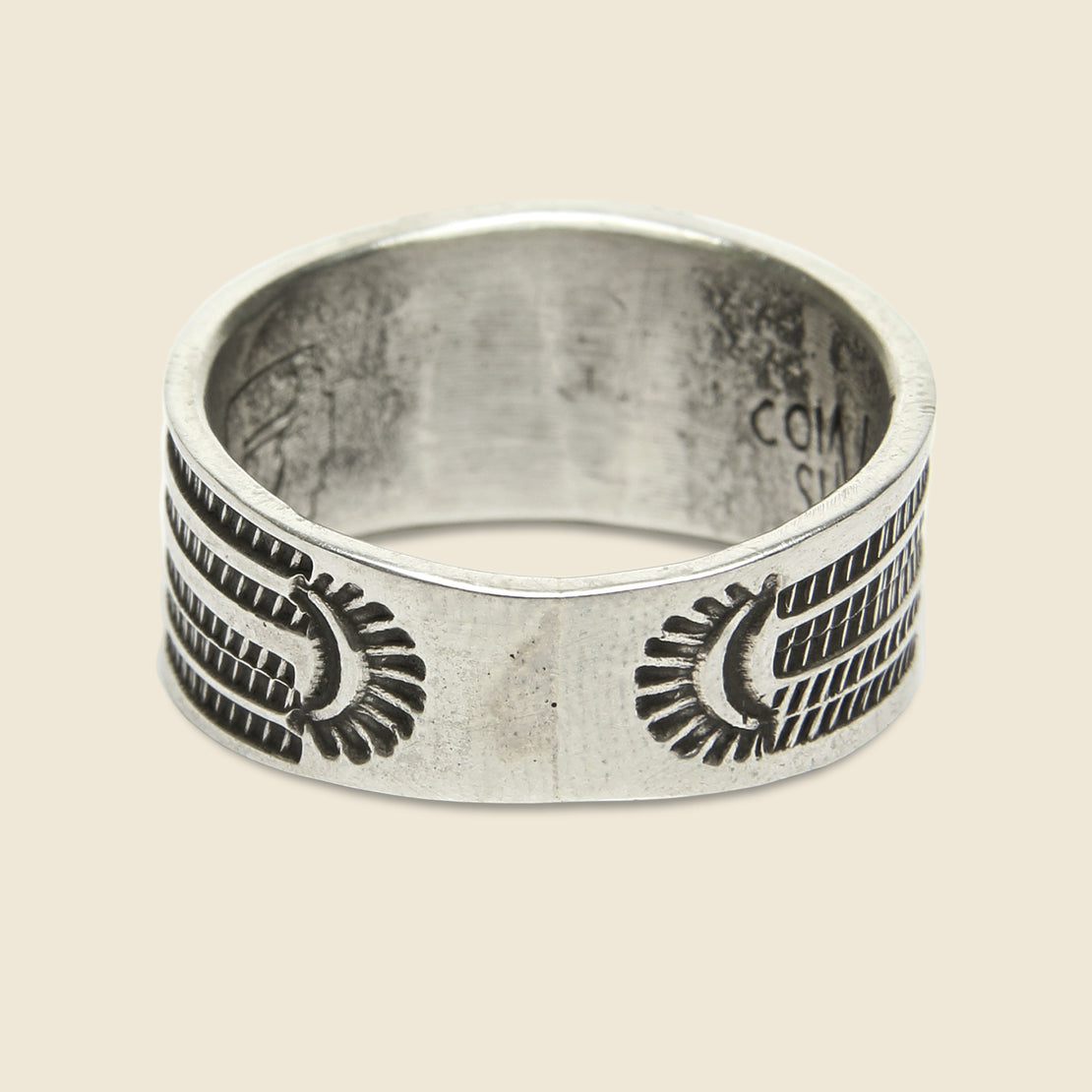 Coin Silver Cigar Ring - Thunderbird