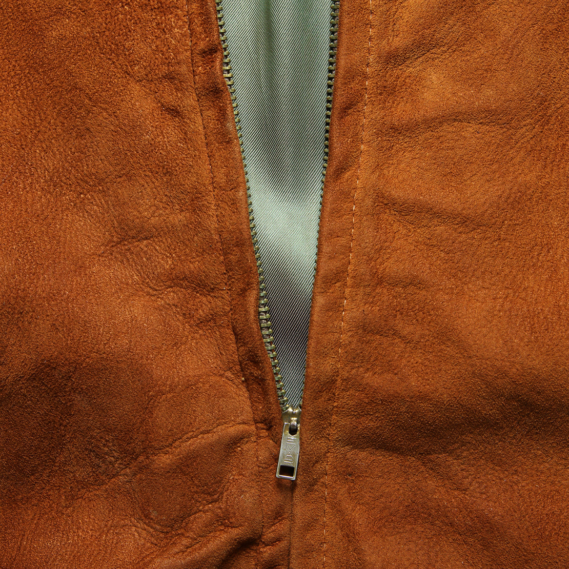 Suede Bomber Jacket - Copper
