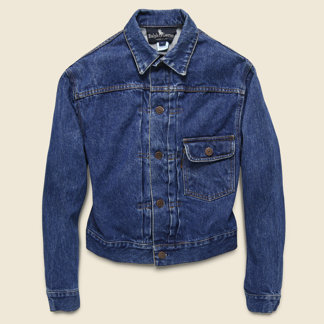 Vintage Ralph Lauren Buckle Back Denim Jacket - Indigo
