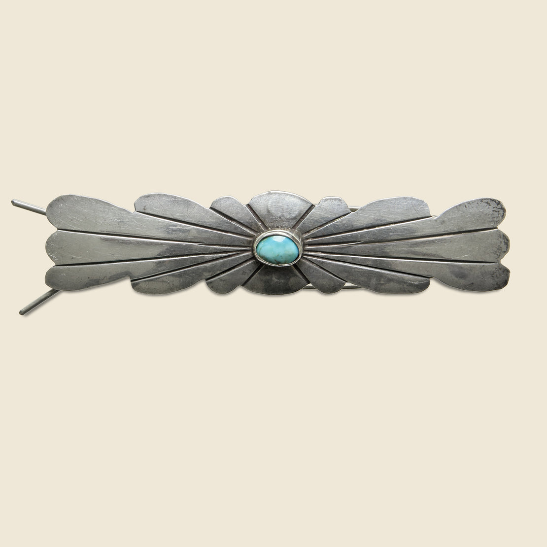 Vintage Turquoise Hair Pin - Sterling Silver