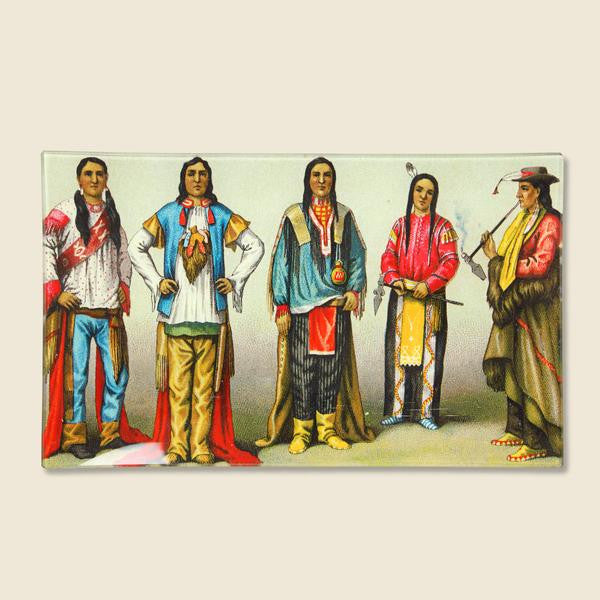 John Derian Rectangle Tray - Standing Native Americans