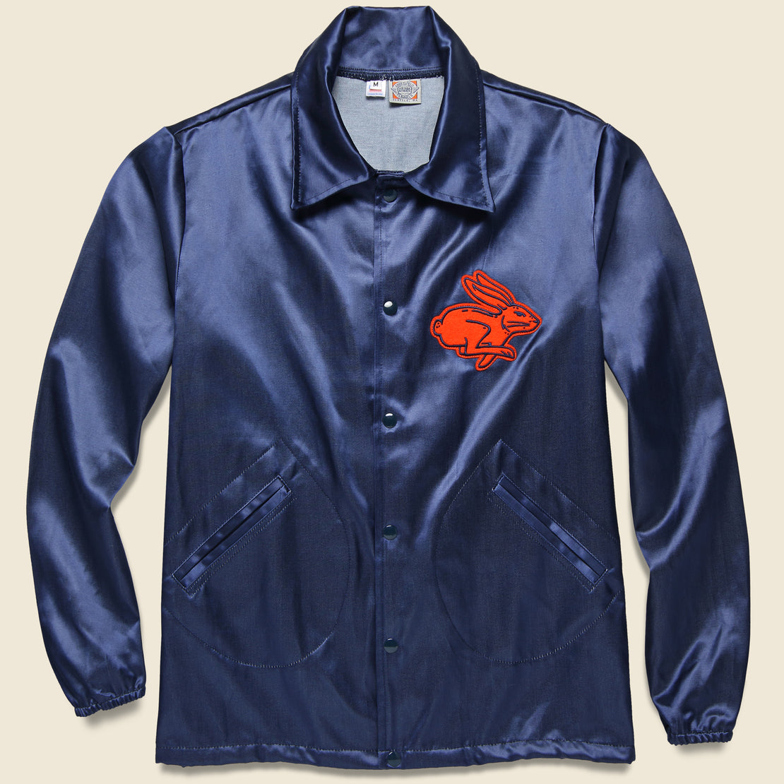 Ebbets Field Flannels Texas Playboys Satin Windbreaker - Navy