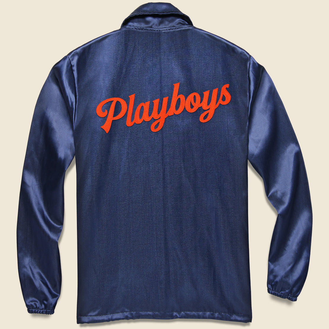 Texas Playboys Satin Windbreaker - Navy