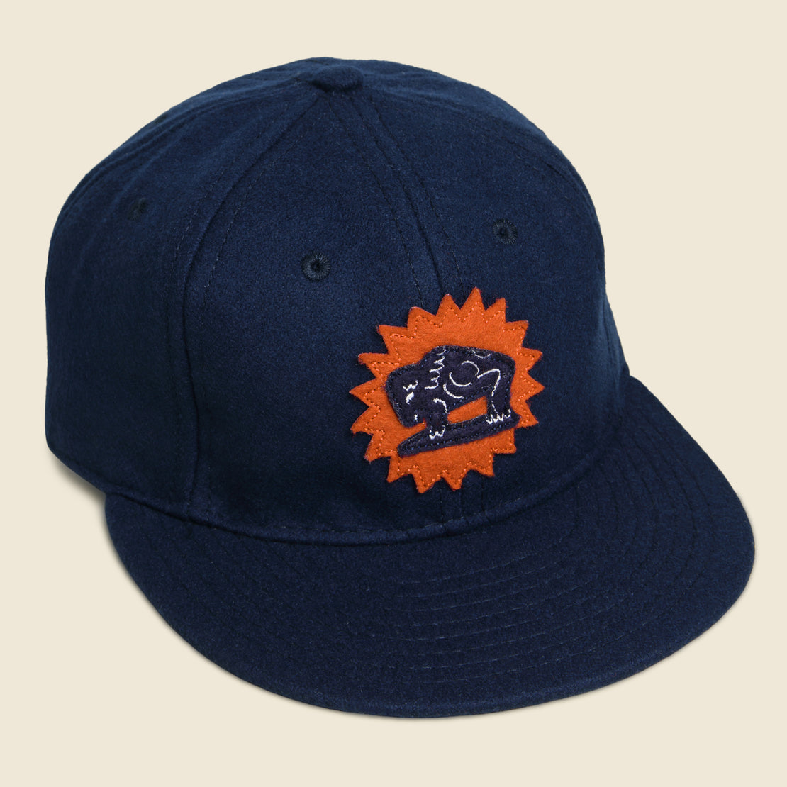Ebbets Field Flannels Houston Buffaloes Hat - Navy/Orange