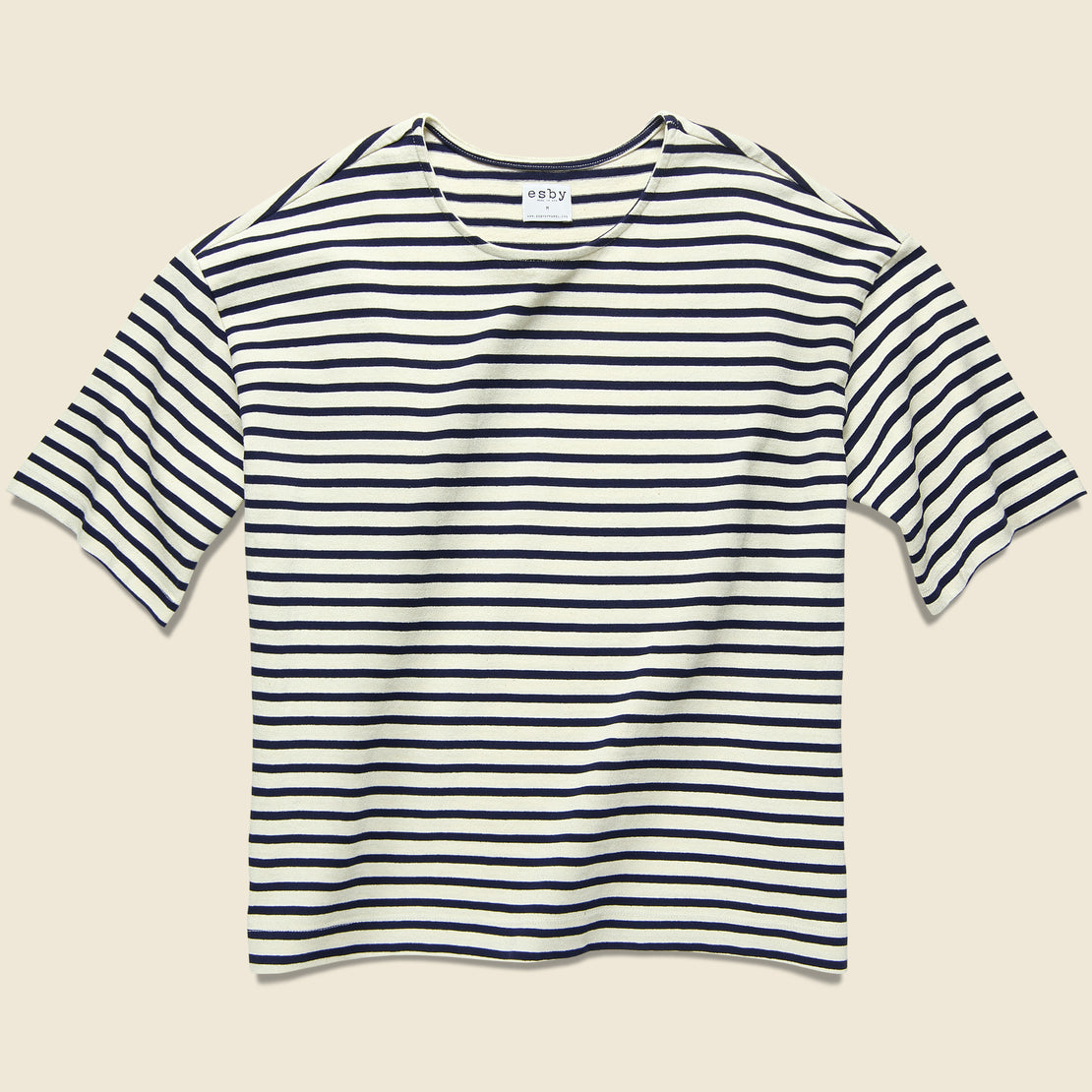 Esby Meredith Knit Top - Natural/Midnight Stripe