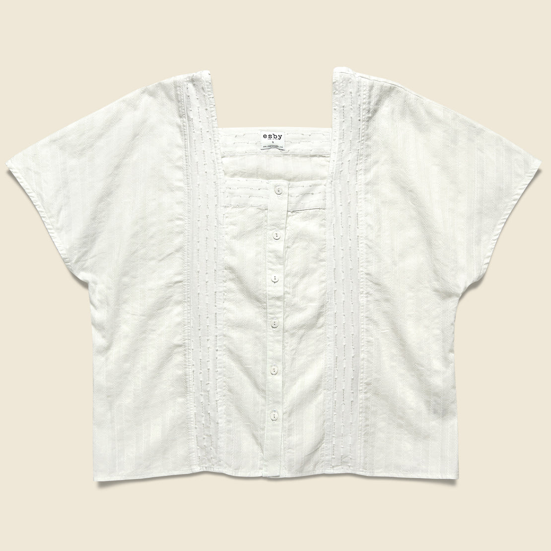 Esby Maya Dobby Button Down - White Sand