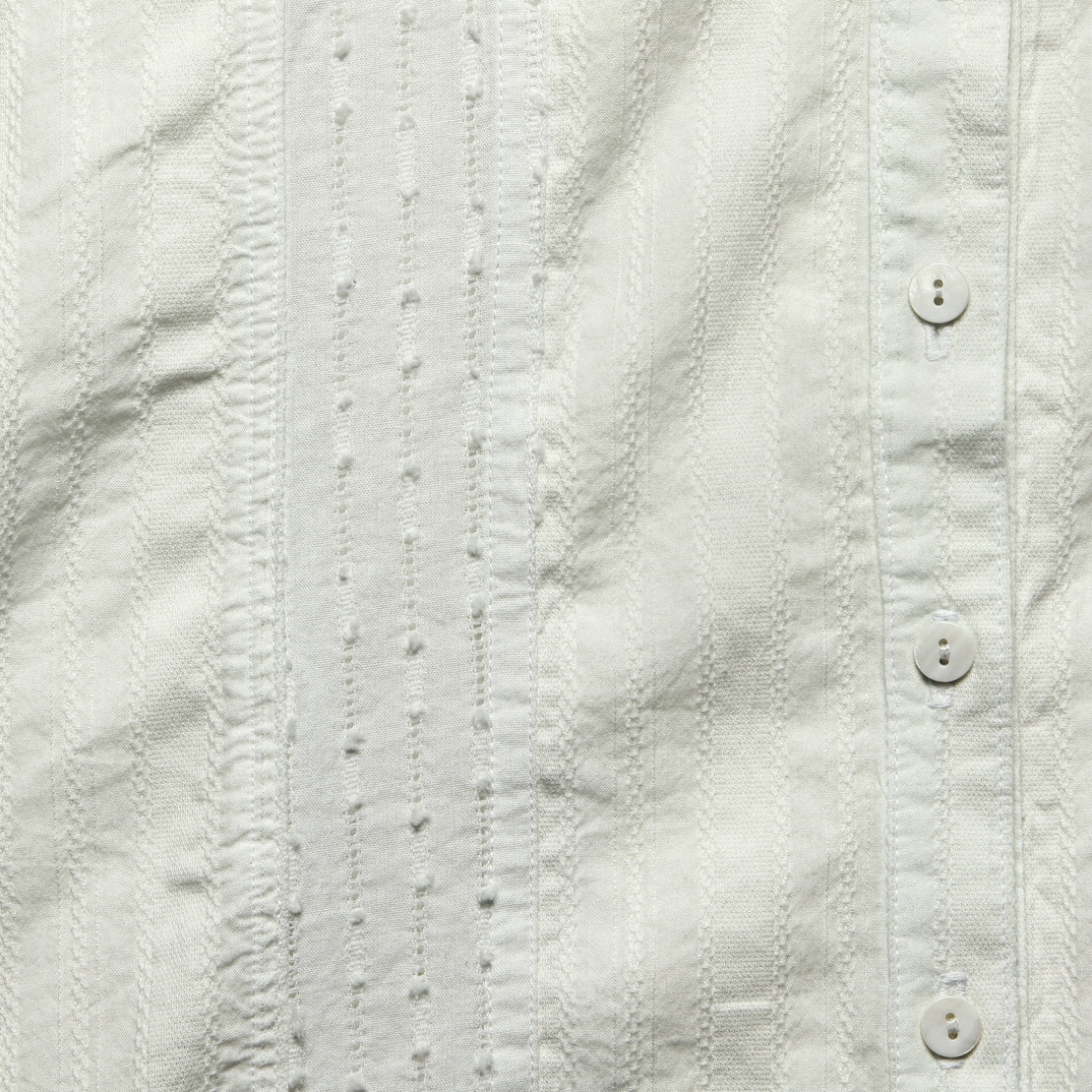 Maya Dobby Button Down - White Sand