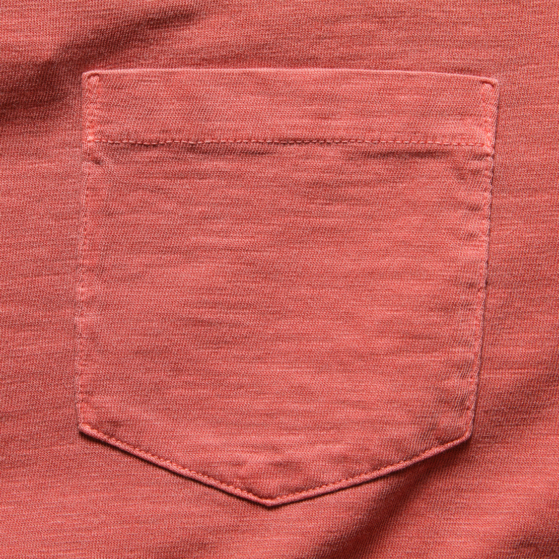Garment Dye Pocket Tee - Faded Red