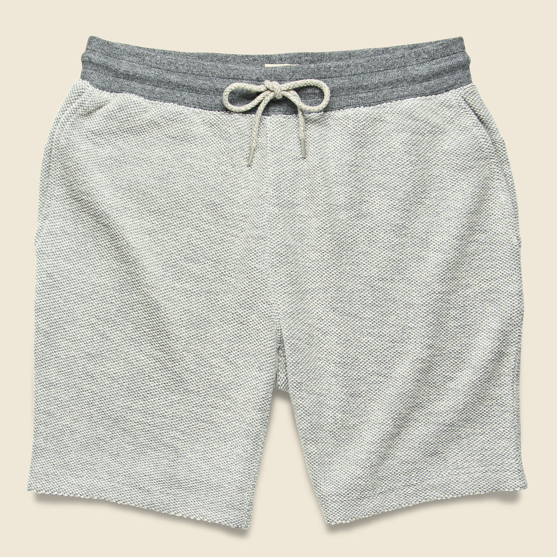 Faherty Backloop Jacquard Sweatshort - Grey