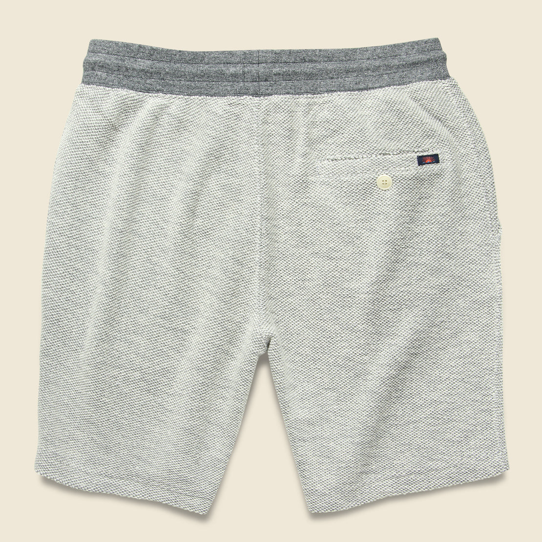 Backloop Jacquard Sweatshort - Grey