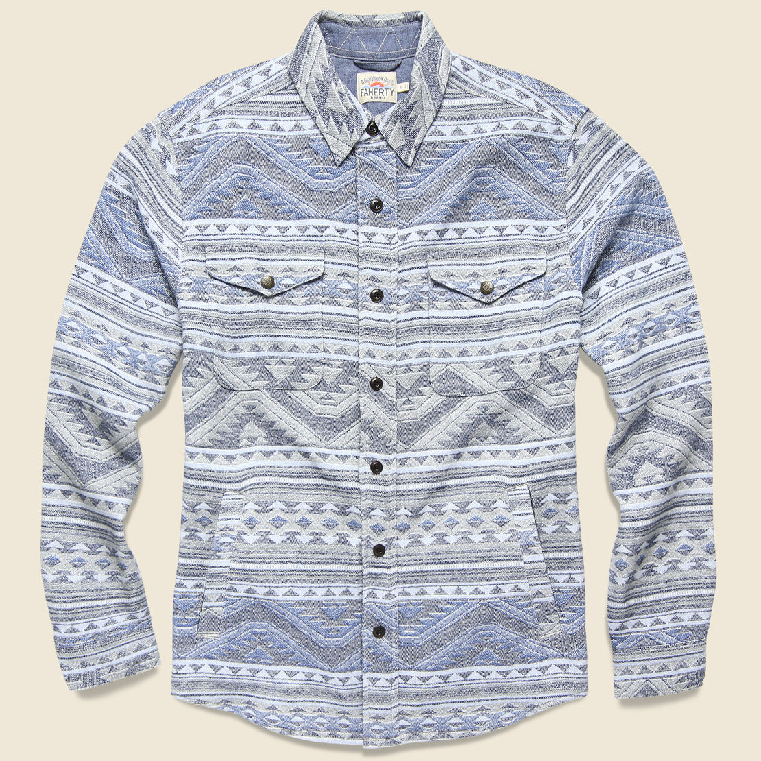 Faherty Durango CPO Workshirt - Twilight Glacier