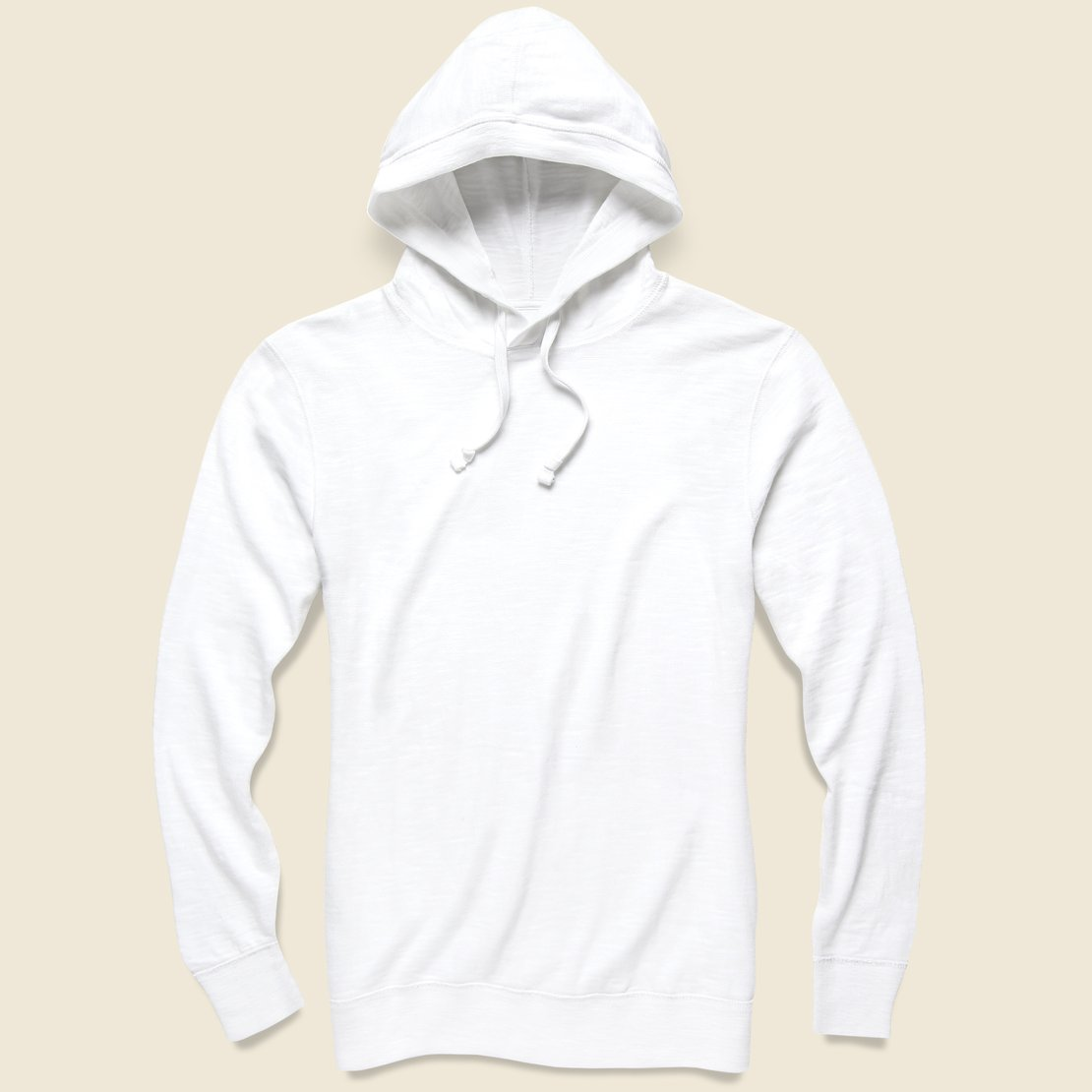 Faherty Slub Cotton Hoodie - White