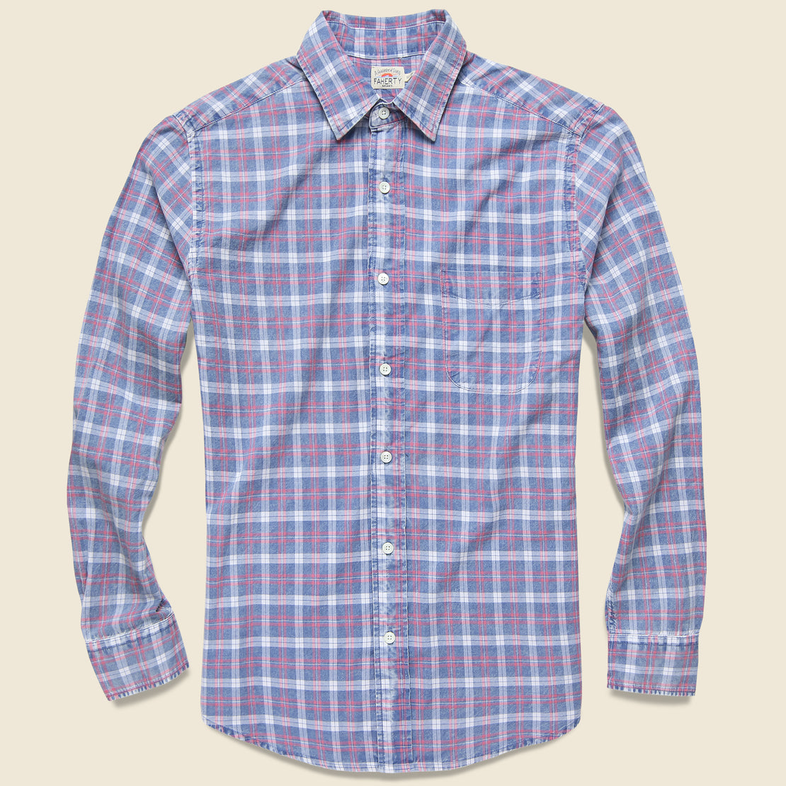 Faherty Ventura Shirt - Indigo White Plaid