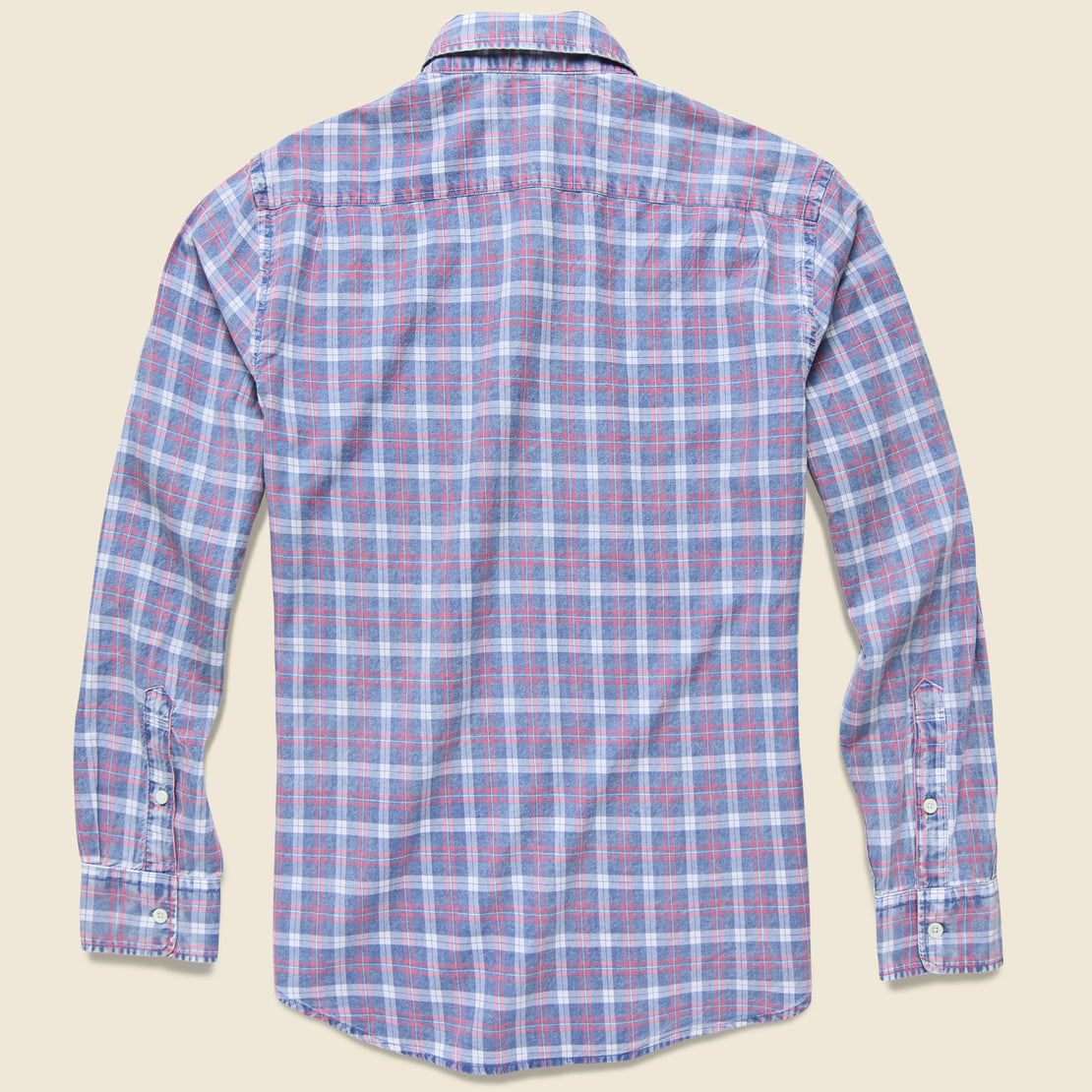 Ventura Shirt - Indigo White Plaid
