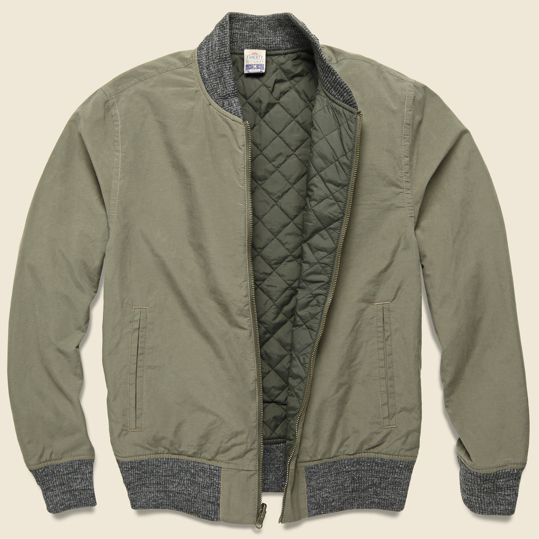 Faherty Surplus Bomber - Dark Olive