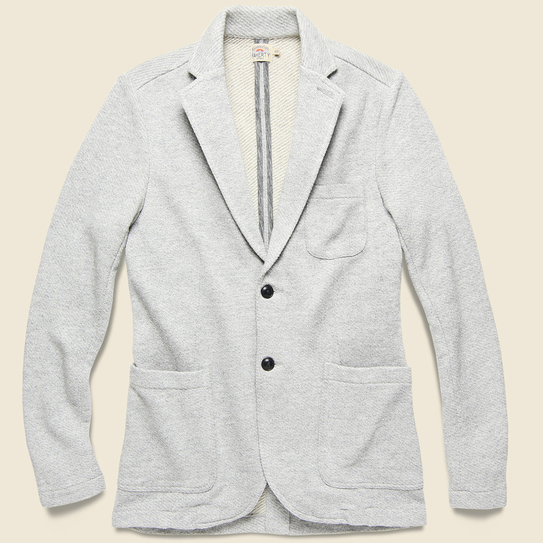 Faherty Interloop Blazer - Light Grey Heather