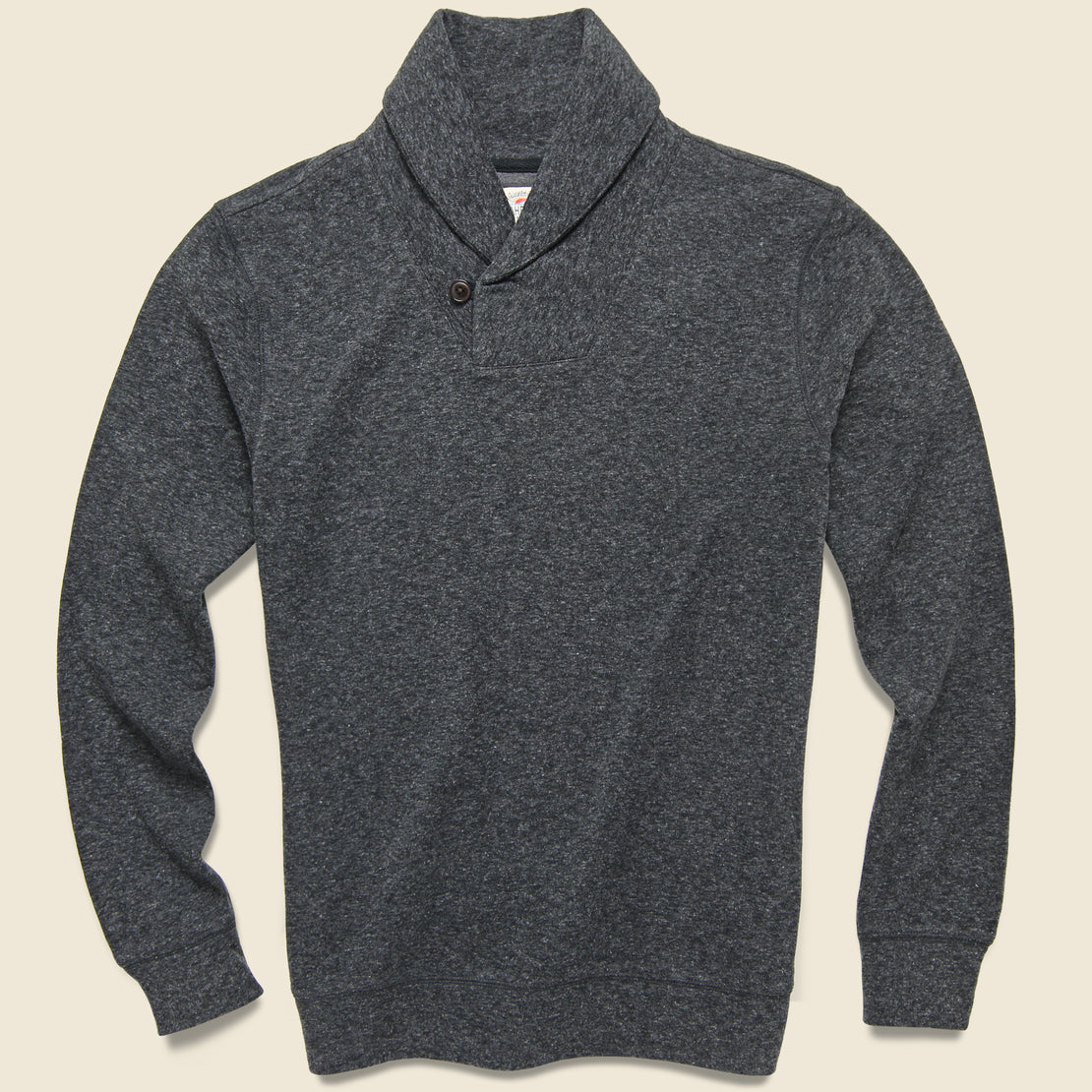 Faherty Dual Knit Shawl Collar Pullover - Washed Black