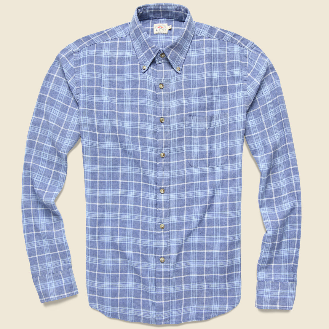 Faherty Pacific Shirt - Light Blue Melange