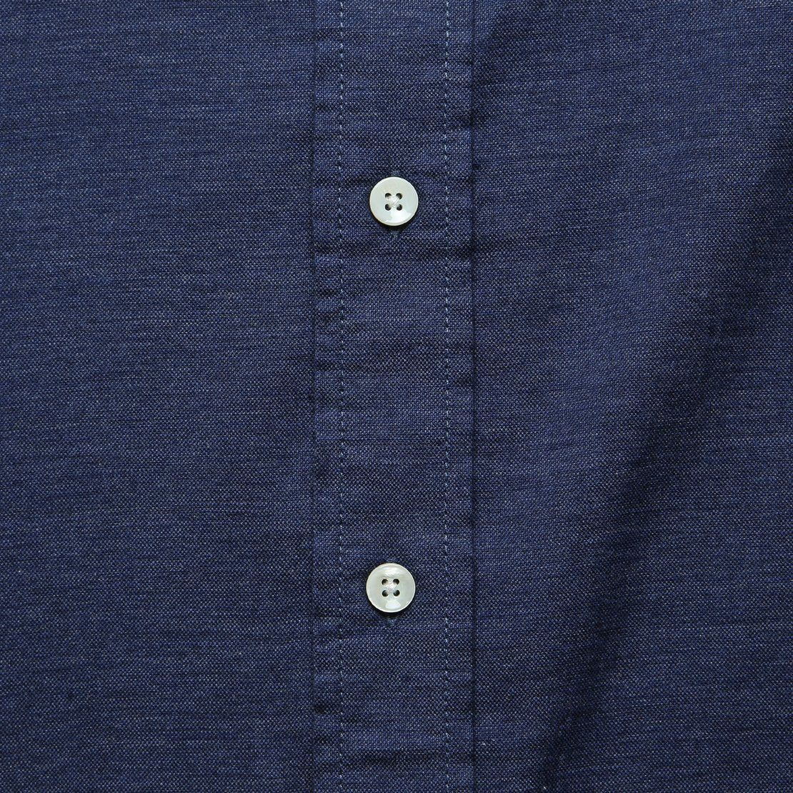 Melange Oxford Shirt - Navy