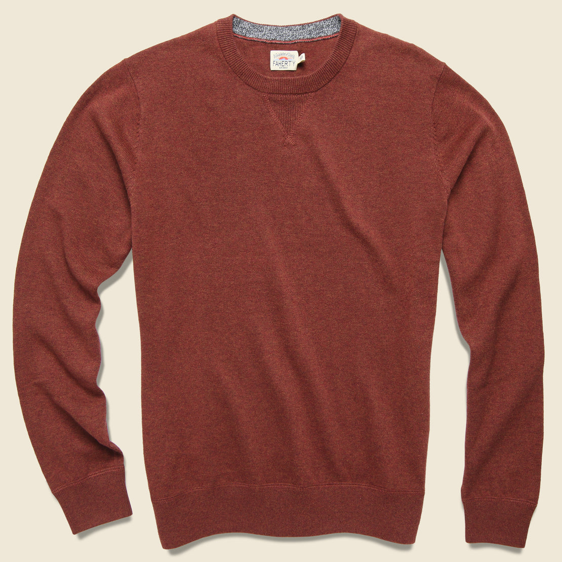 Faherty Sconset Crew Sweater - Autumn Rust