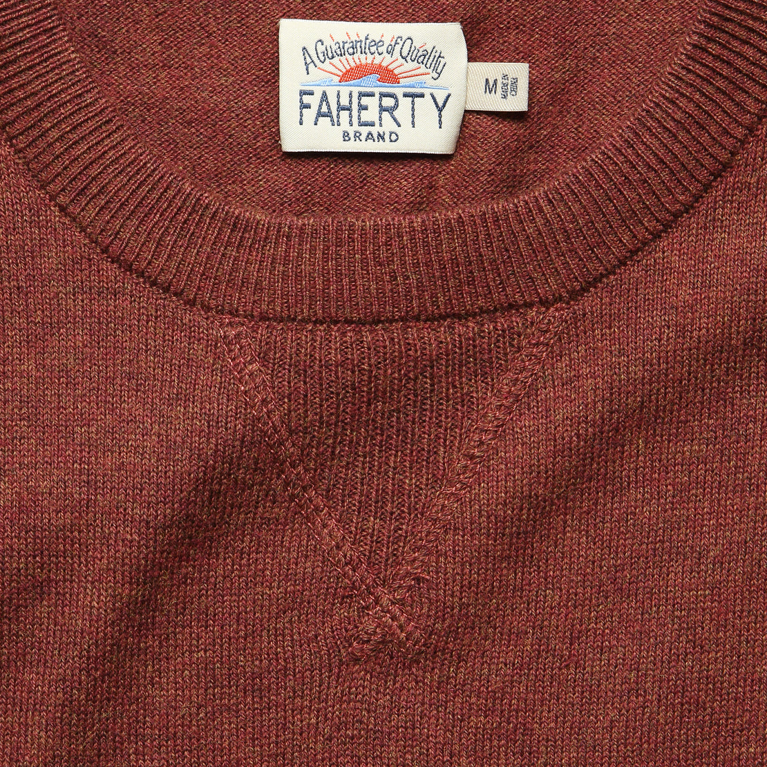 Sconset Crew Sweater - Autumn Rust