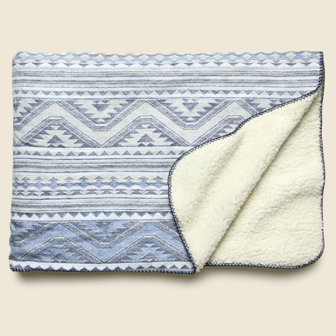 Faherty Aspen Sherpa Blanket - Twilight Glacier