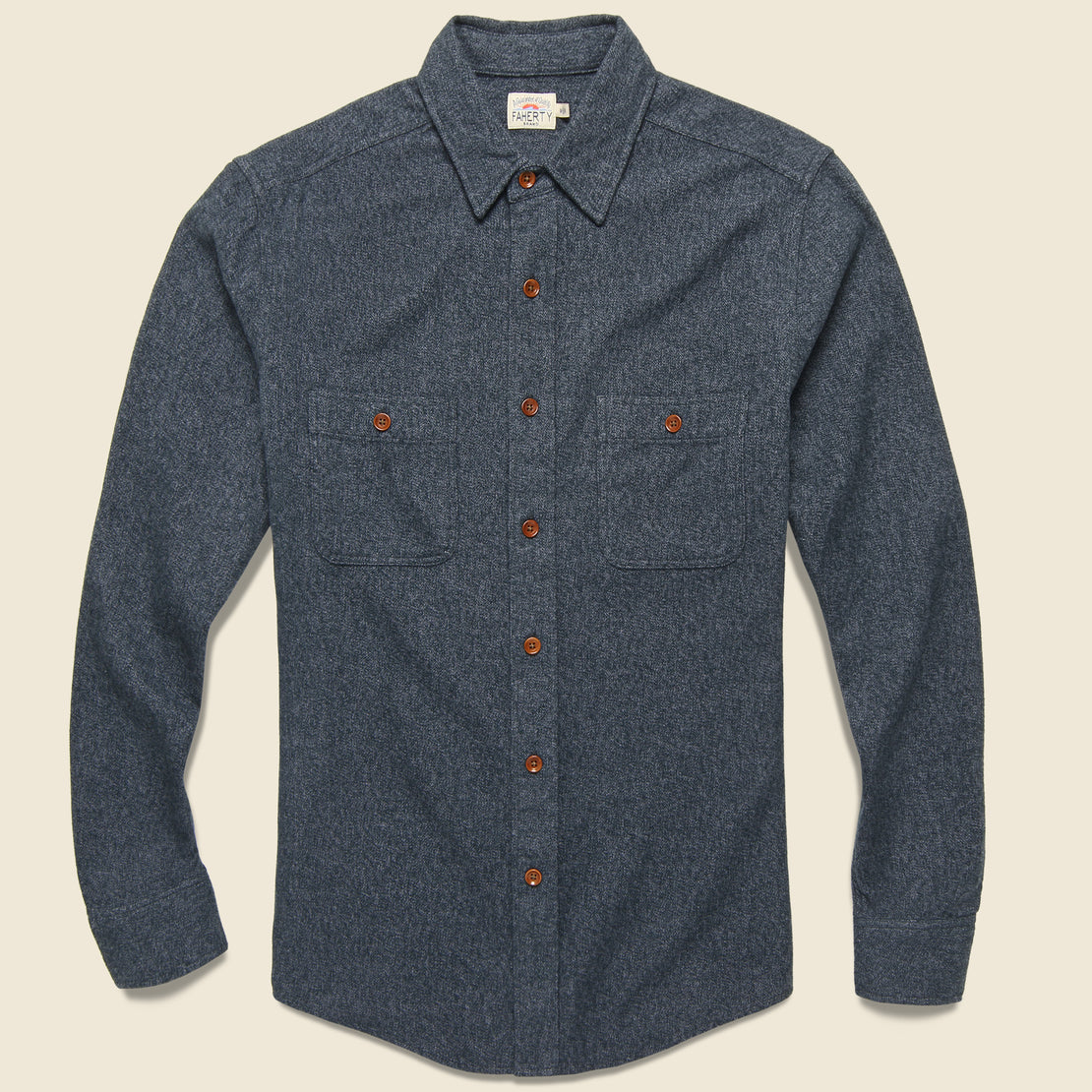 Faherty Brushed Alpine Flannel - Washed Black