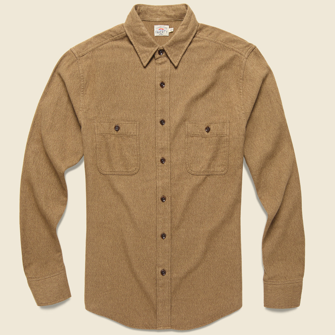 Faherty Brushed Alpine Flannel - Wheat