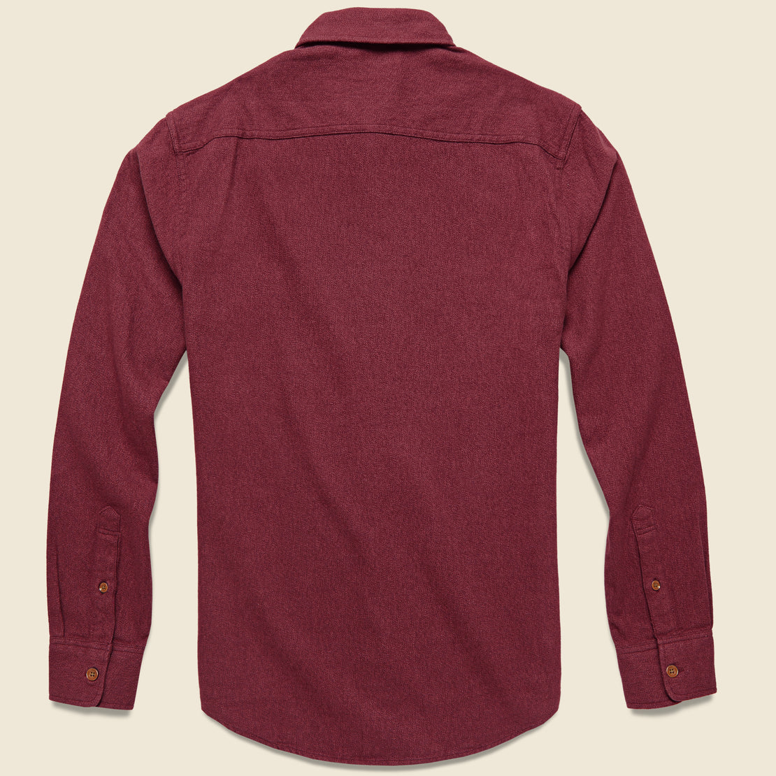 Brushed Alpine Flannel - Burgundy