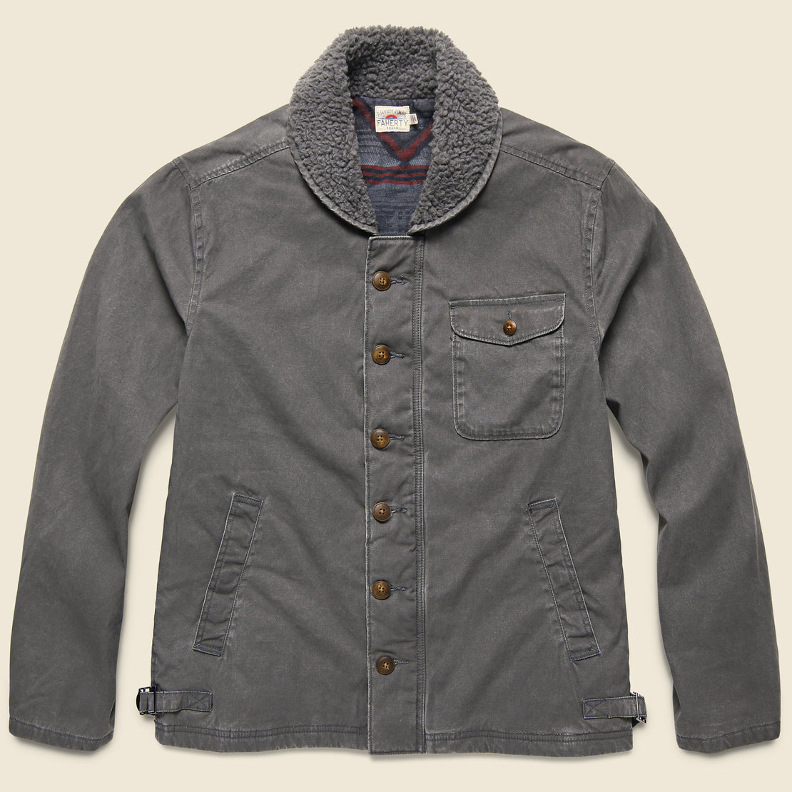 Faherty Deck Jacket - Charcoal Sulphur