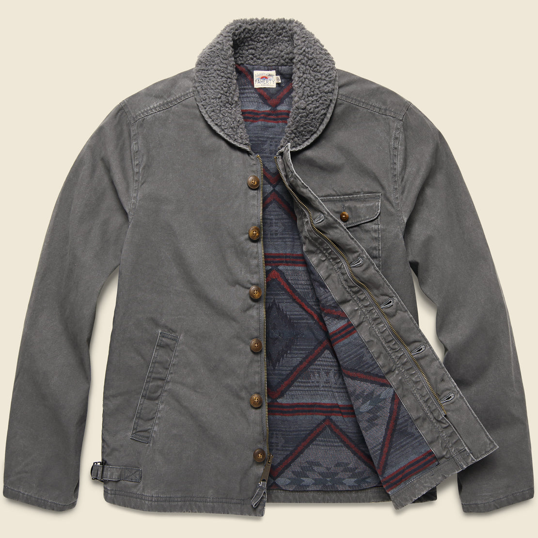 Deck Jacket - Charcoal Sulphur