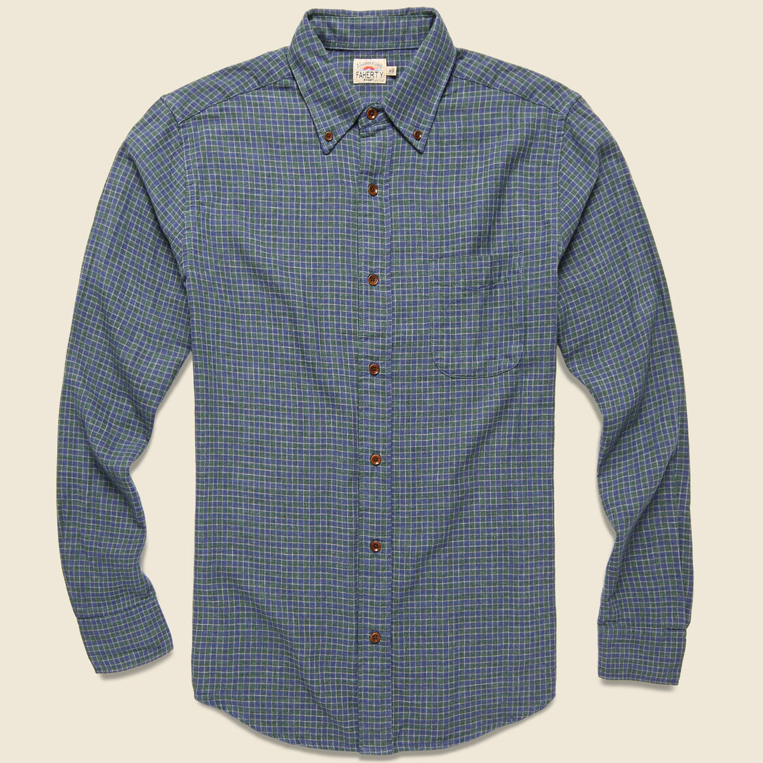 Faherty Doublecloth Pacific Shirt - Hunter Shadow Check