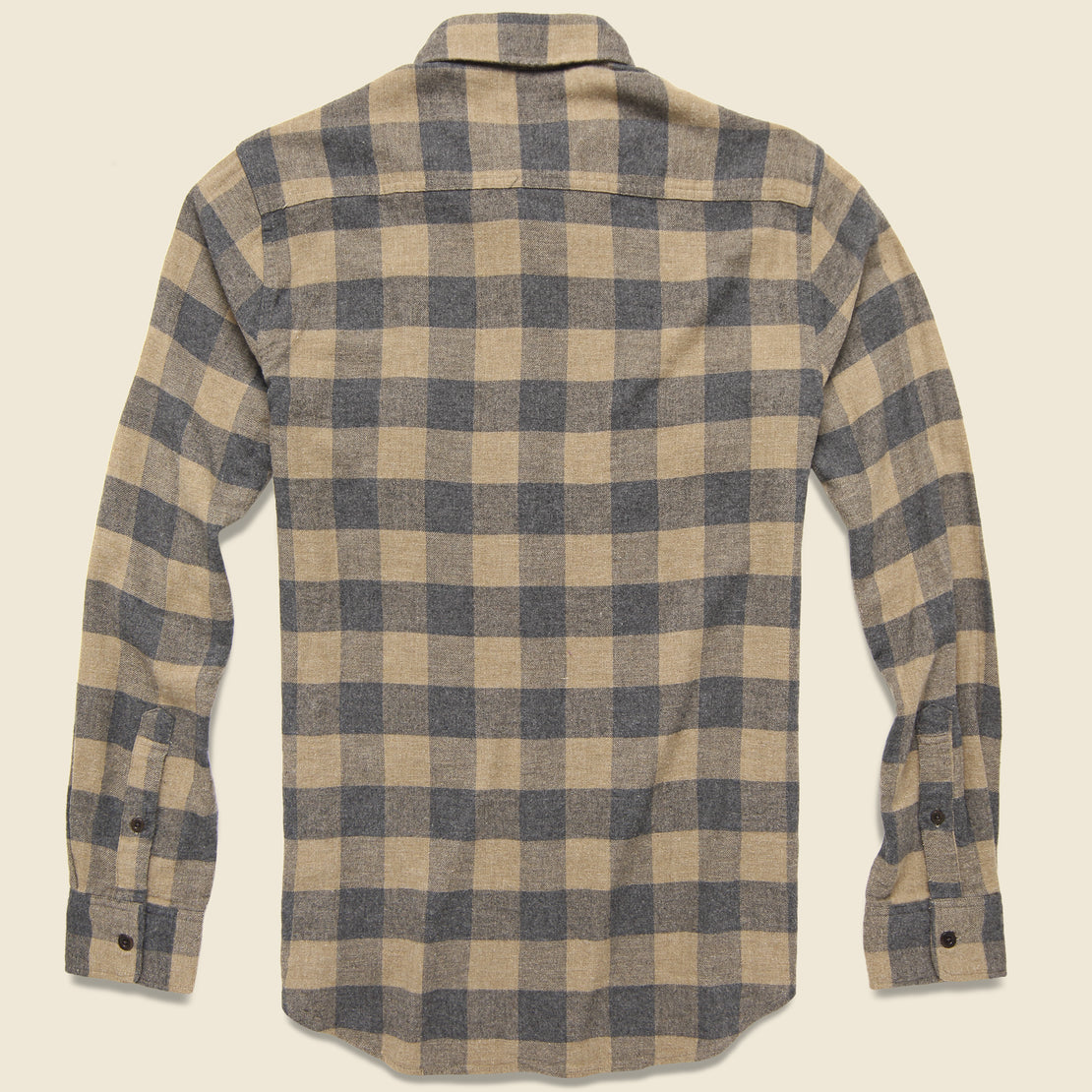 Brushed Alpine Flannel - Sand Charcoal Buffalo