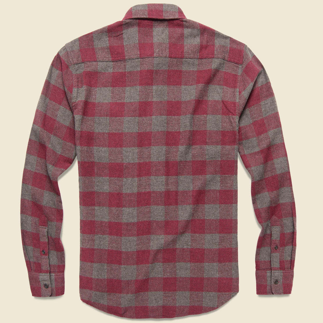 Brushed Alpine Flannel - Wine/Chestnut Buffalo