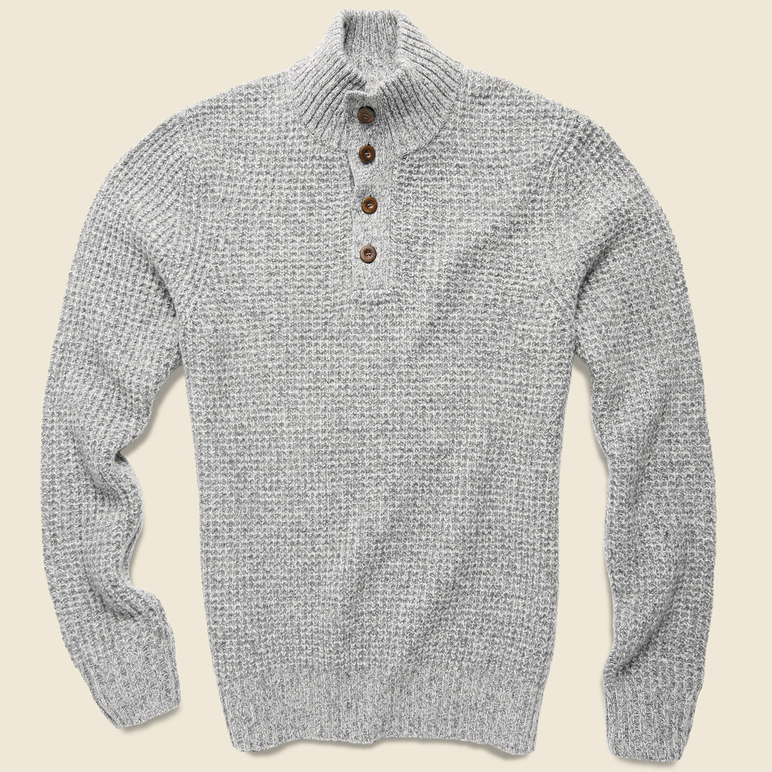 Faherty Cashmere Sweater - Light Grey