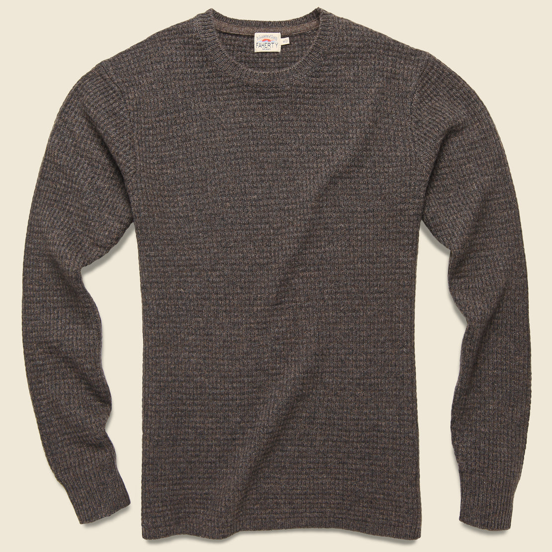 Faherty Cashmere Crewneck - Walnut